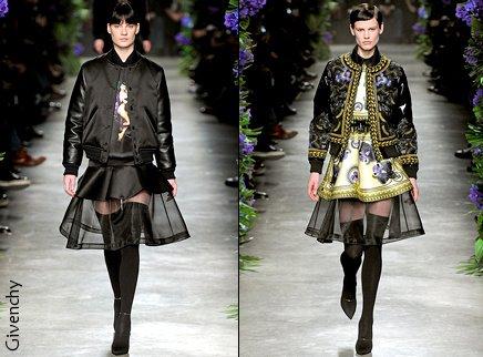 Deux versions différentes pour Givenchy (gros coup de coeur pour celui de droite perso)