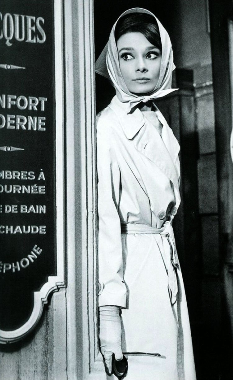 Audrey Hepburn et son trench-coat