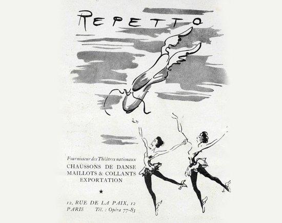 Première création publicitaire de Rose Repetto