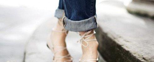 On ne se lasse pas des ballerines lacées!