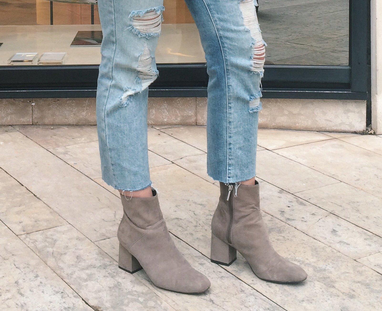 Boyfriend coupé : Forever 21 Ankle boots : Zara