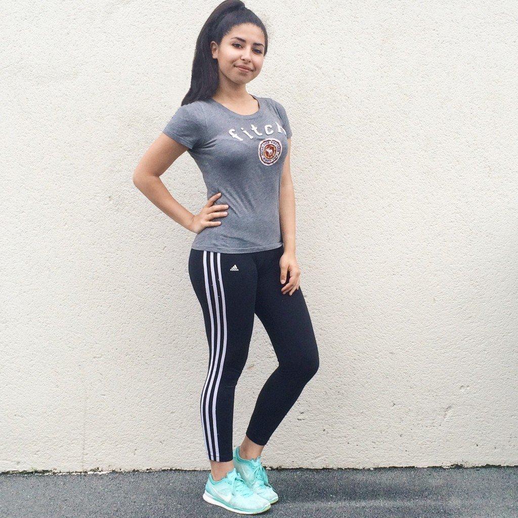 Tee-Shirt : Abercrombie & Fitch Sneakers : Nike Free Run Legging : Adidas